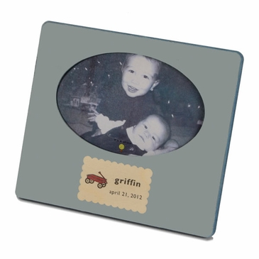 Handmade Personalized Wooden Picture Frame - Blue