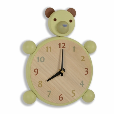 Handmade Wooden Animal Clock - Bear
