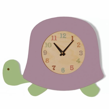Handmade Wooden Animal Clock - Turtle