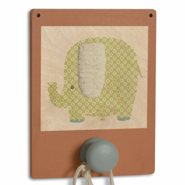 Handmade Wooden Wall Hook - Elephant