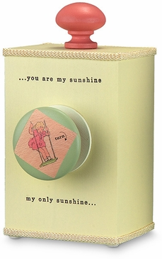 "Handmade ""You Are My Sunshine"" Lullaby Wooden Music Box - Girl"