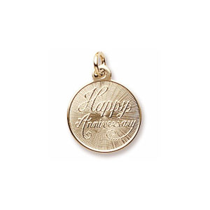 Happy Anniversary Disc Charm by Forever Charms - Personalized