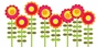 Happy Flower Peel & Place Wall Art - click to Enlarge