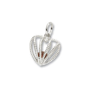 Heart Caged January Birthstone Charm by Forever Charms