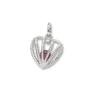 Heart Caged June Birthstone Charm by Forever Charms