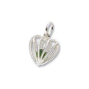 Heart Caged May Birthstone Charm by Forever Charms