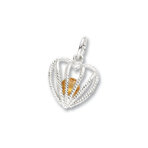 Heart Caged November Birthstone Charm by Forever Charms
