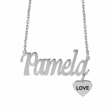 """Heart of Love"" Name Necklace"