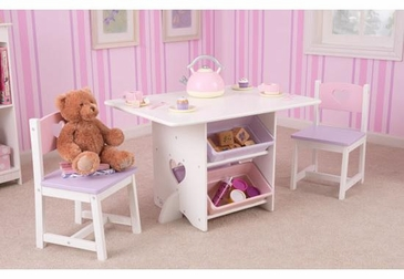 Heart Table and 2 Chairs Set