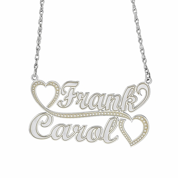 """Hearts for Two"" Couple's Necklace - Personalized"