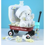 �Hello World!� Baby Shower Gift Basket