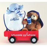 �Hello World!� Sports Baby Gift Basket  (Personalized)