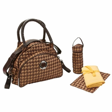 Herringbone Bronze - Bellisimo Diaper Bag by Kalencom
