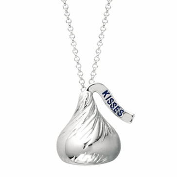 HERSHEY'S KISSES� Sterling Silver Necklace - 3D  (As Seen on Kim Kardashian)