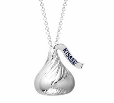 HERSHEY'S KISSES® Sterling Silver Necklace - Flat Back