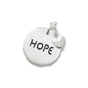 Hope Tag with Heart Charm by Forever Charms - Personalized