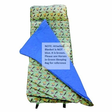 Horses in Green Kids Nap Mat