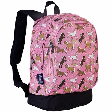 Horses in Pink Kids Backpack