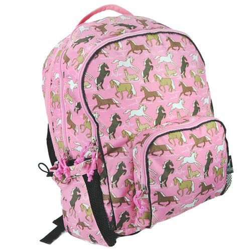 Horses in Pink Macropak Kids Backpack | Bliss Living