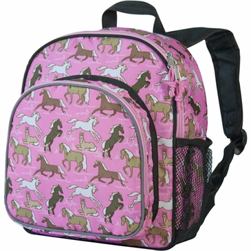 Horses in Pink Pack 'n Snack Kids Backpack