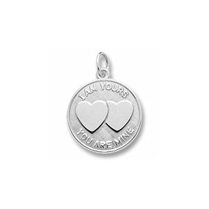 I Am Yours Hearts Charm by Forever Charms - Personalized