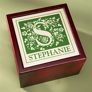 Initial Name Keepsake Box