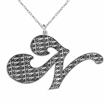 Initial Necklace with Name Pattern