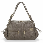 Jessica Taupe Diaper Bag by Timi & Leslie