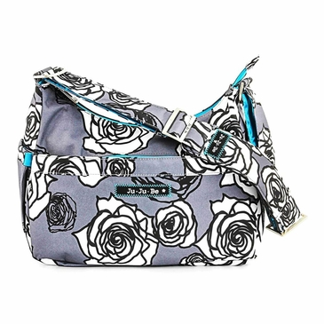 Ju-Ju-Be Classic Hobobe Charcoal Roses Diaper Bag