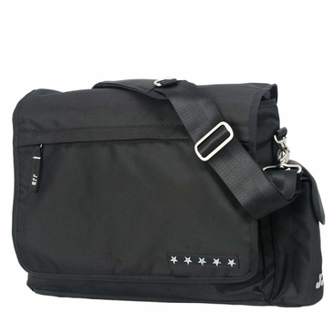 Ju-Ju-Be JJB Messenger Black/Silver Diaper Bag