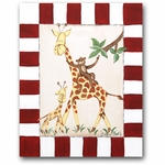Jungle Junior - Giraffe & Monkey Canvas Wall Art