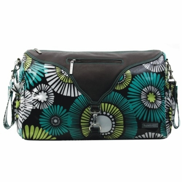 Kalencom Astrid Coated Diaper Bag - Straw Daisy Lagoon