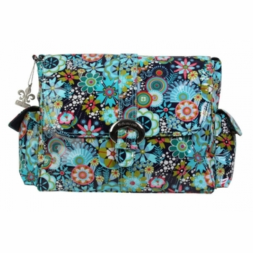 Kalencom Coated Buckle Diaper Bag - Dixie Daisies Floral