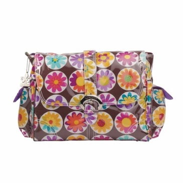 Kalencom Laminated Buckle Diaper Bag - Big Daisy Chocolate