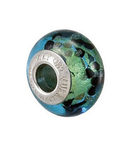 Kera™ Bella Viaggio Blue & Black Leopard Glass Bead