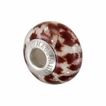 Kera™ Bella Viaggio Red & White Animal Stripe Glass Bead