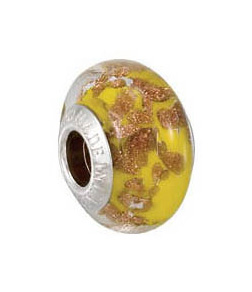 Kera™ Bella Viaggio Yellow Glass Bead with Aventurina
