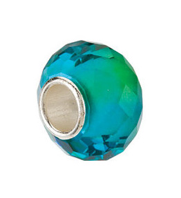 Kera™ Blue & Green Faceted Glass Bead