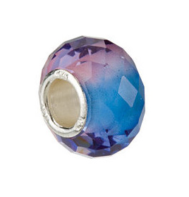 Kera™ Blue & Purple Faceted Glass Bead