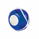 Kera™ Blue with White Swirl Glass Bead