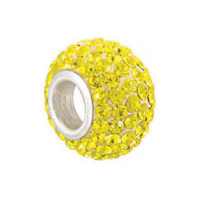 Kera™ Citrine-Colored Crystal Pave' Bead