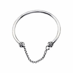 Kera™ Designer Bangle Bracelet with Safety Chain