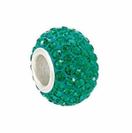 Kera™ Emerald-Colored Crystal Pave' Bead