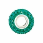 Kera™ Emerald-Colored Crystal Pave' Bead - click to Enlarge