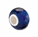Kera™ Faceted Sapphire-Colored Glass Bead