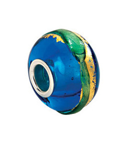 Kera™ Gold & Aqua Murano Glass Bead