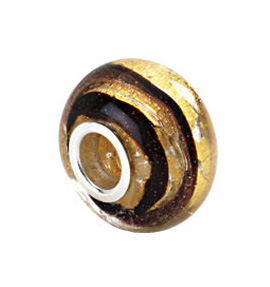 Kera™ Gold & Brown Murano Glass Bead