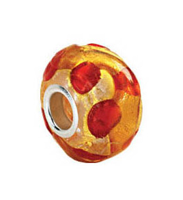 Kera™ Gold & Orange Murano Glass Bead