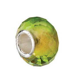 Kera™ Green & Yellow Faceted Glass Bead