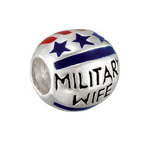 "Kera™ ""Military Wife"" Enamel Bead"